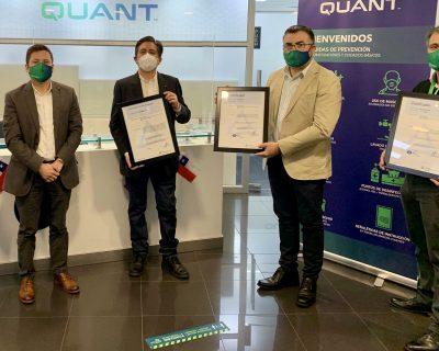 Quant Americas mantiene las certificaciones ISO 9001, ISO 14001, ISO 45001 y 55001 y las amplía para otros contratos